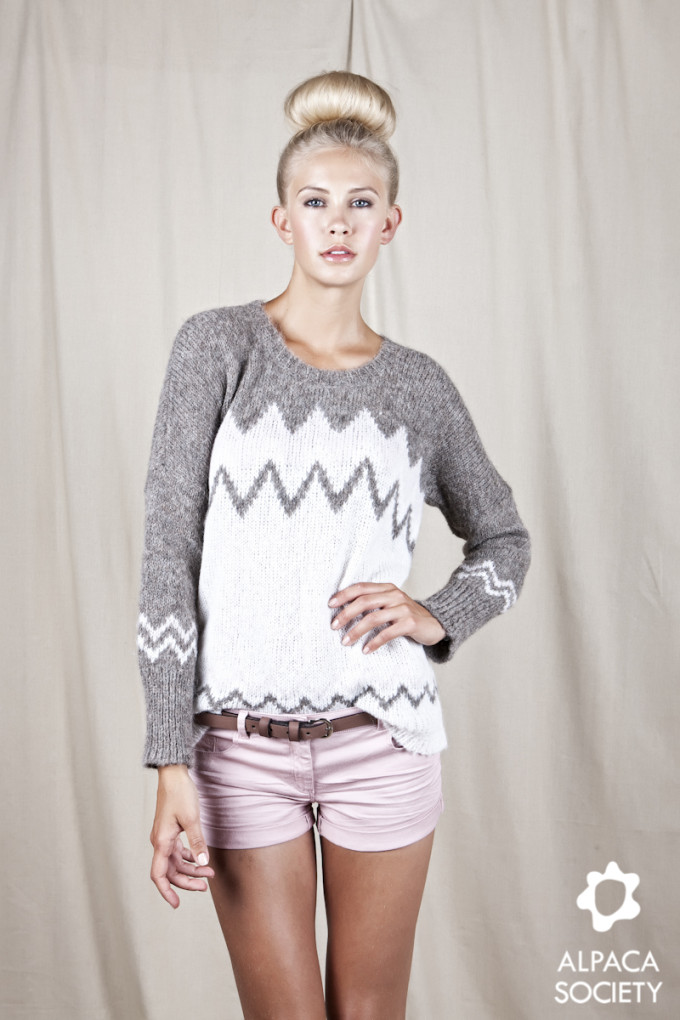 Cecil Sweater Inca Pattern Marl Brown